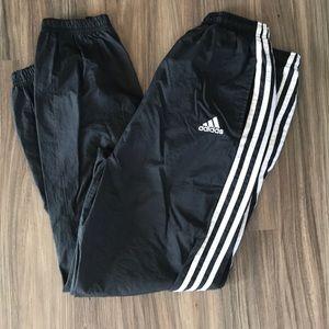 Adidas black white wind jogging pants swish Large